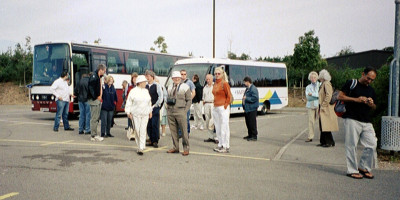 OAS members arriving at the National Space Centre on 2004 September 12th
