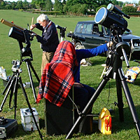 Scopes set up to capture the event