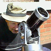 Joe observing the transit through a suitably filtered telescope