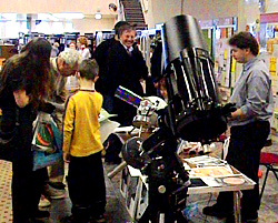 Telescopes on the OAS stand