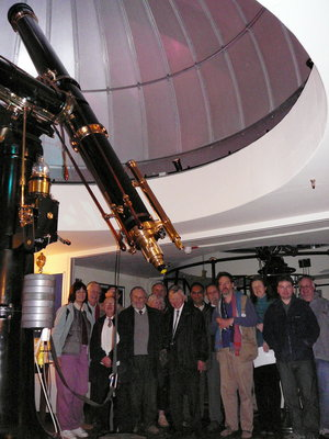 OAS members in the Fry telescope dome at Mill Hill